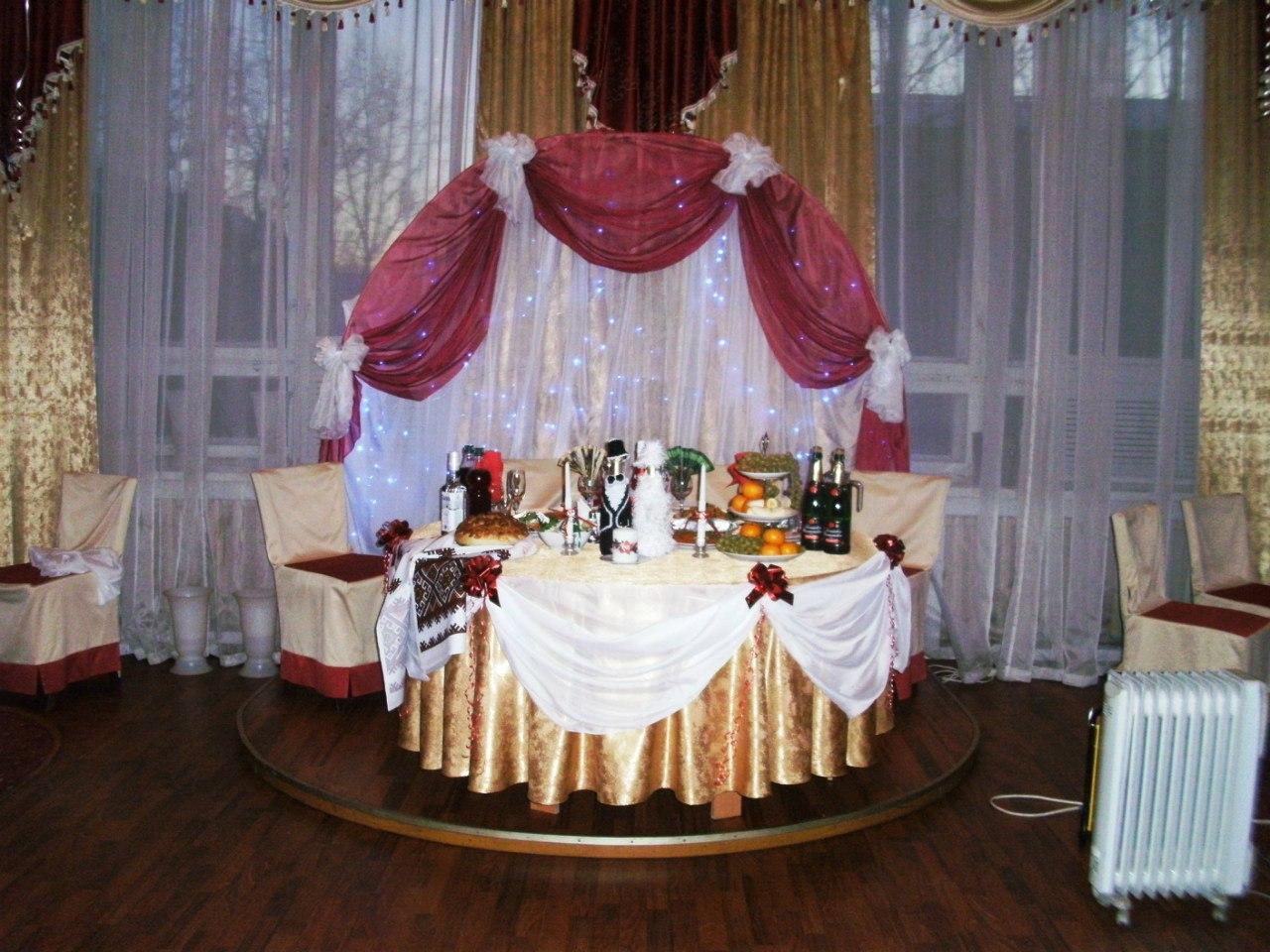 Оформление свадебного зала своими руками них фото